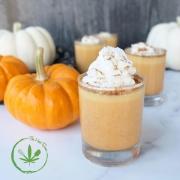Pumpkin Pie CBD Pudding Shots by the Herbsomm
